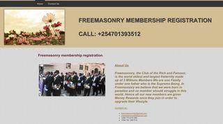 Freemasonry membership registration