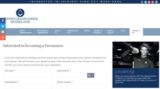 Interested in becoming a Freemason - UGLE