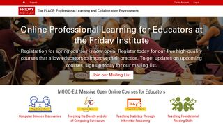 The PLACE: Professional Learning and Collaboration Environment