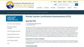 Florida Teacher Certification Examinations (FTCE)