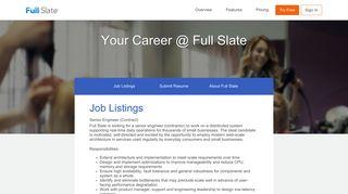 Careers at Full Slate