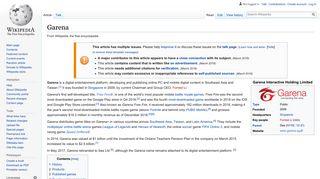 Garena - Wikipedia