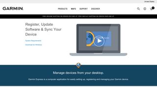 Garmin Express   Register, Update Software & Sync Your Device