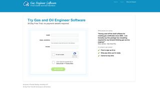 Signup - Log in - Gas Engineer Software