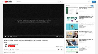 How to Create Invoice and use Templates on Gas Engineer ...