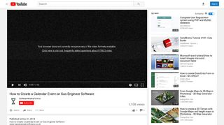 How to Create a Calendar Event on Gas Engineer Software - YouTube