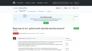 Best way to run `gcloud auth activate-service-account` · Issue #166 ...