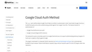 Google Cloud - Auth Methods - Vault by HashiCorp