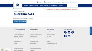 Shopping Cart - GE Parts & Accessories Store