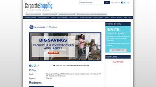 GE Appliances Warehouse Employee Discounts, Employee Benefits ...