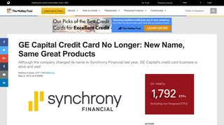 GE Capital Credit Card No Longer: New Name, Same Great Products ...