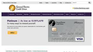 Credit Cards - VISA Platinum Credit Card - General Electric Credit Union