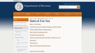 Sales & Use Tax - Department of Revenue - Georgia.gov