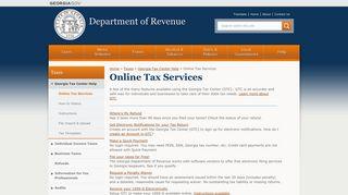 Online Tax Services - Department of Revenue - Georgia.gov