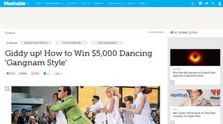 Giddy up! How to Win $5,000 Dancing 'Gangnam Style' - Mashable