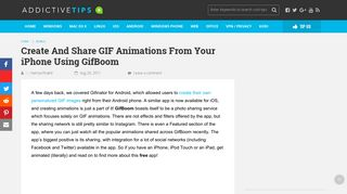 Create And Share GIF Animations From Your iPhone Using GifBoom
