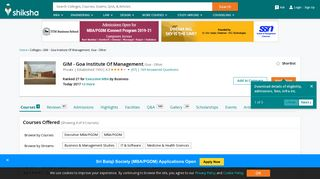 GIM - Goa Institute Of Management, Goa - Other - Courses, Placement ...