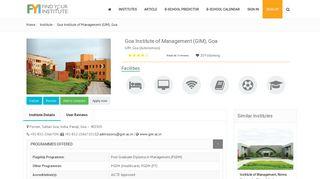 GIM Goa - Final Placement, Salary, Course, Fees details- FYI