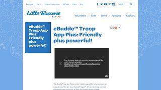 eBudde™ Troop App Plus: Friendly plus powerful! | Little Brownie ...