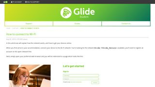 How to connect to Wi-Fi - Glide Student - StudentCom