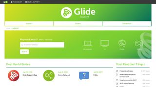 Glide Student Broadband Help & Support - My Account