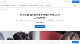 Classroom: manage teaching and learning   Google for Education