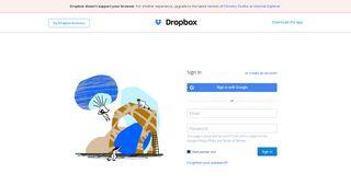 Login - Dropbox