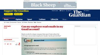 Can my employer read emails in my Gmail account?   Technology ...