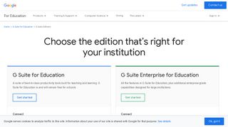 G Suite Editions   Google for Education