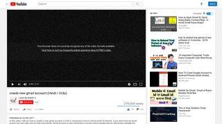 create new gmail account (Hindi / Urdu) - YouTube