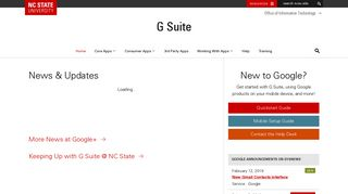 G Suite – Office of Information Technology - NC State University