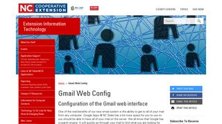Gmail Web Config   NC State Extension