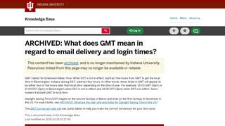 What does GMT mean in regard to email delivery and login times?