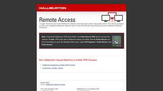 Remote Access   Halliburton - Halliburton