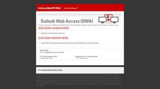 Outlook Web Access (OWA)   Halliburton