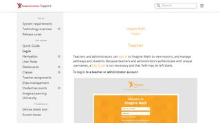Log in   Imagine Learning Support
