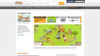 Buy Goodgame Cafe game codes and cards - Rixty
