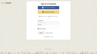 Sign in - Goodreads
