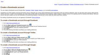 Create a Goodreads account - Missouri State University