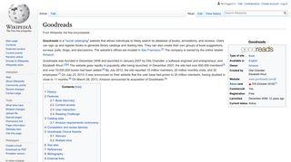 Goodreads - Wikipedia