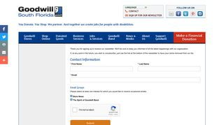 Email Signup | Goodwill Industries South Florida