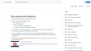 Get started with Analytics - Analytics Help - Google Support