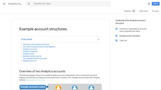 Example account structures - Analytics Help - Google Support