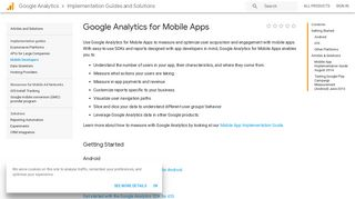 Google Analytics for Mobile Apps | Analytics Implementation Guides ...