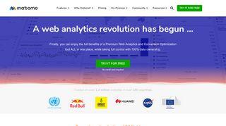 #1 Free Web Analytics Software