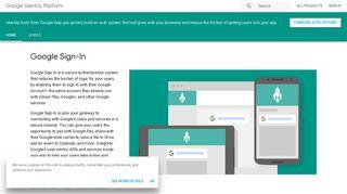 Google Identity Platform   Google Developers