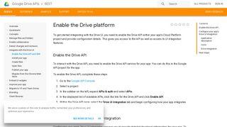 Enable the Drive platform   Drive REST API   Google Developers