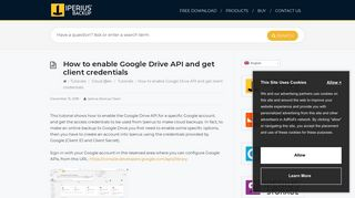How to enable Google Drive API and get client credentials - Iperius