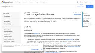Cloud Storage Authentication   Cloud Storage   Google Cloud