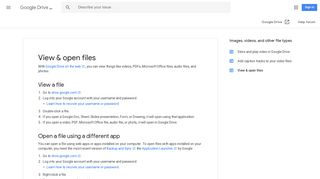View & open files - Google Drive Help - Google Support